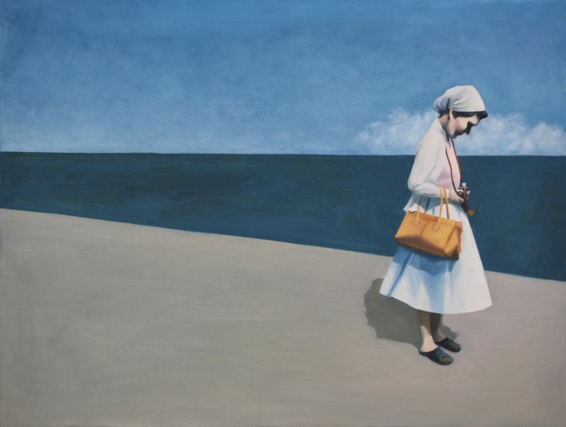 """Ögonklick"". Olja på duk. (85x65cm) 9800:- ""Moment ""Oil on canvas."